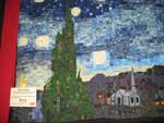 1st place small quilt Starry Night by Maynard Westlake of Graham