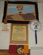 Members challenge: 1st place Dot Spangler, Bellevue (first quilt in 1st picture)