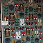 "Second Place Large Quilts: ""Fancy Forest"" by Frances Easter, Jacksboro, TX"